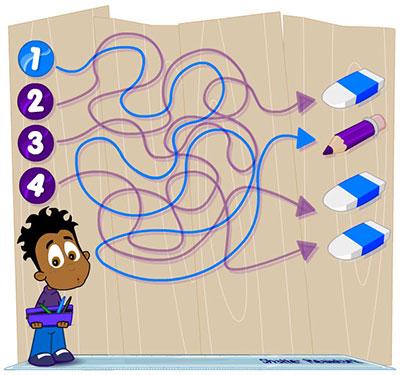 Line puzzle solution