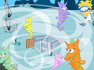 EducationCity Manu's pet seahorses