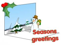 Christmas pop up card from EducationCity.com