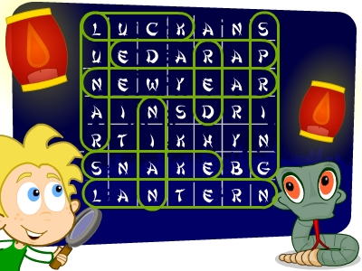 EducationCity Chinese New Year word search answer