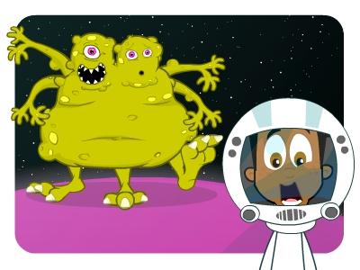 EducationCity alien to celebrate Space Week