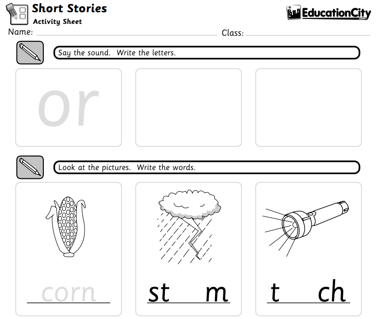 Short Stories Worksheet