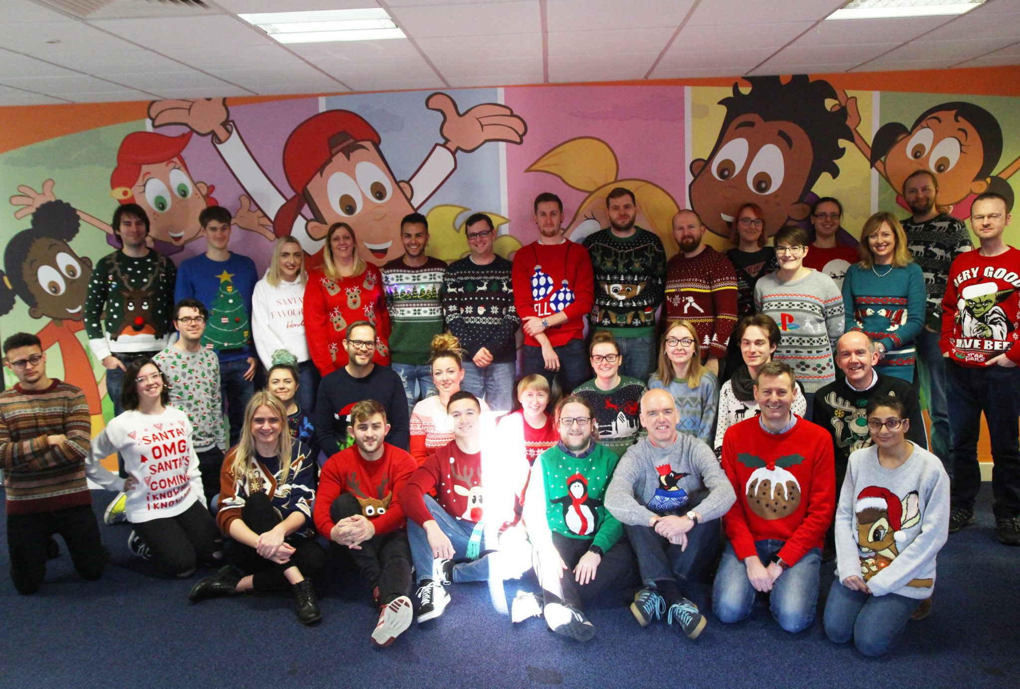 EducationCity Team in Christmas Jumpers