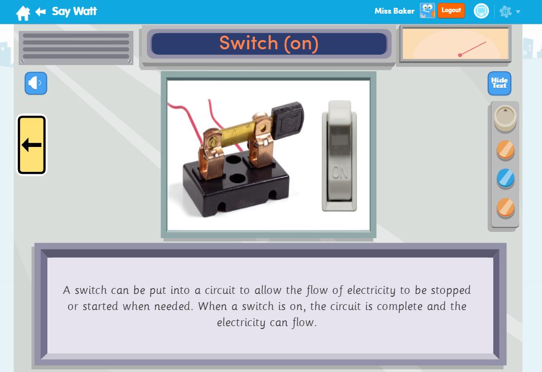 Say Watt Science Learn Screen