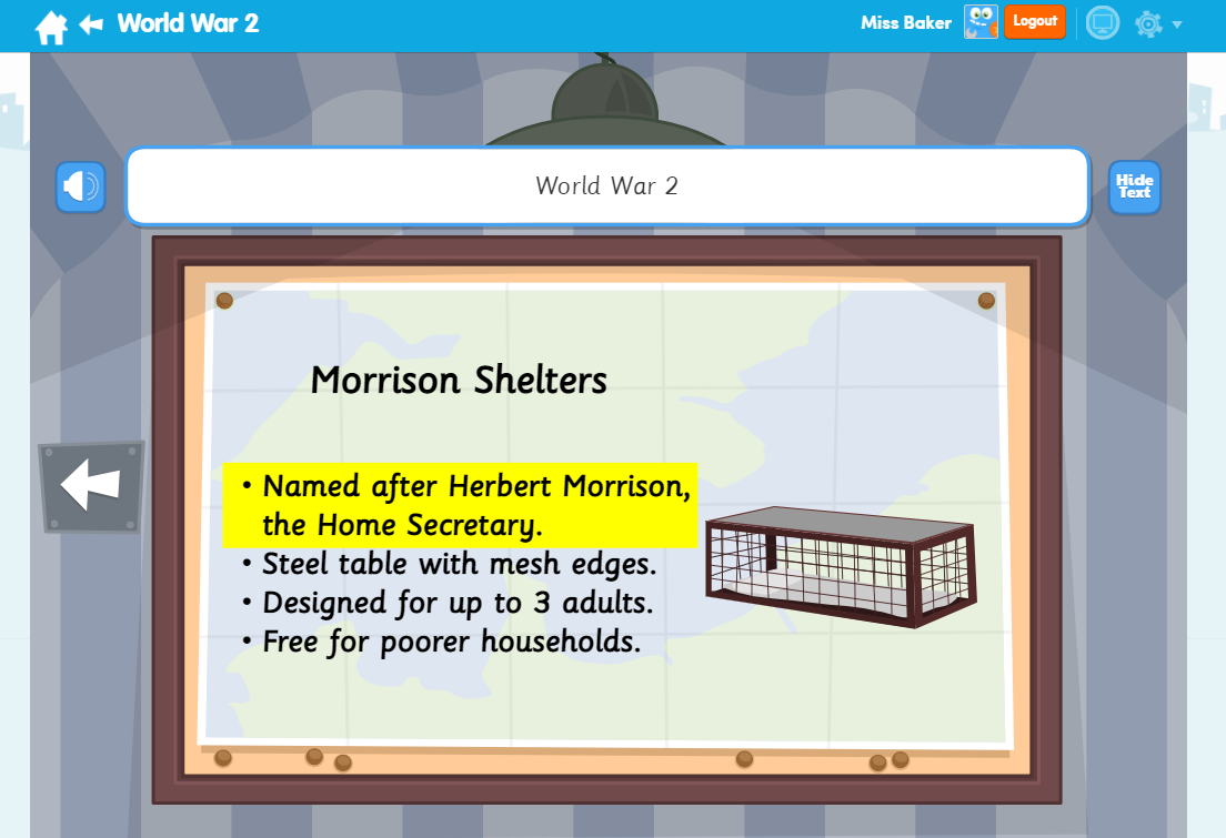 World War 2 English Learn Screen