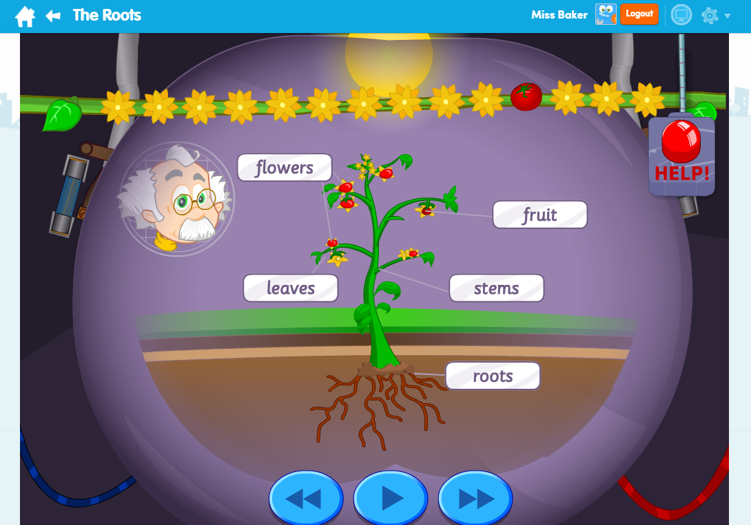 The Roots Science Learn Screen