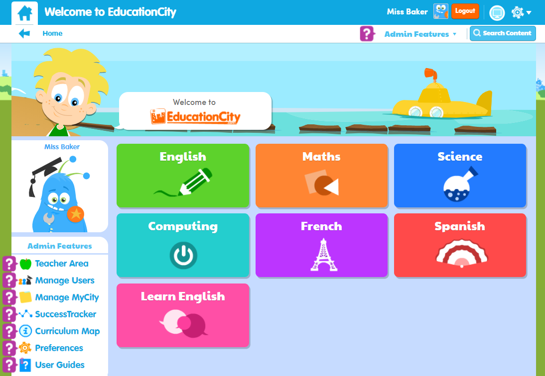 EducationCity Homepage