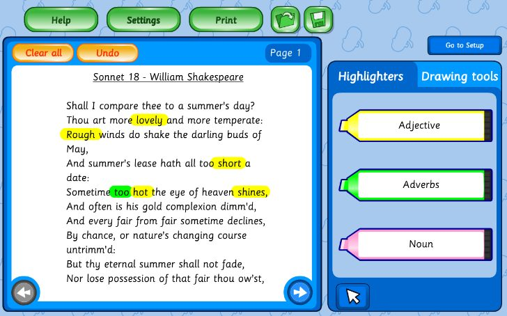 Text Features Topic Tool
