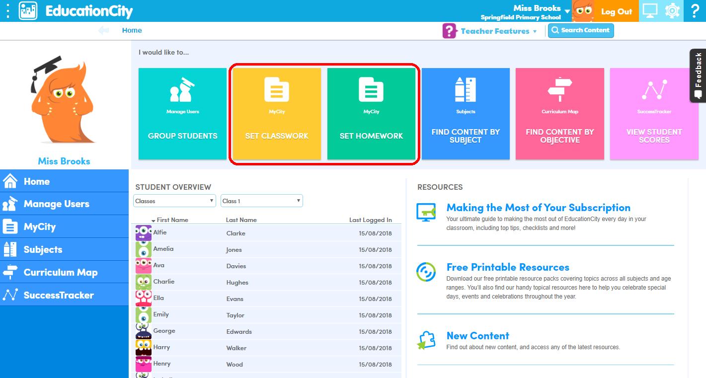 EducationCity Homepage