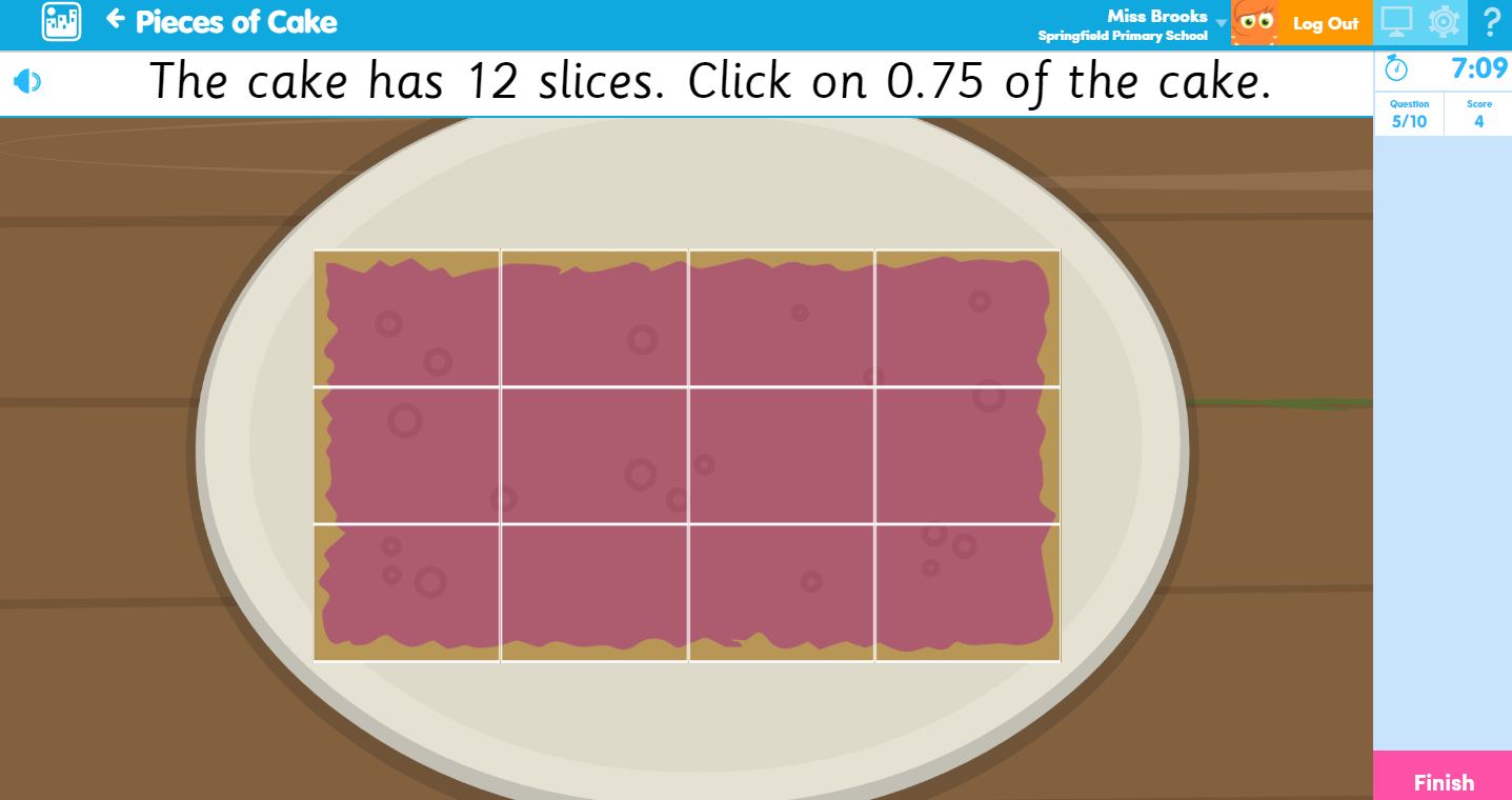 Pieces of Cake Maths Activity