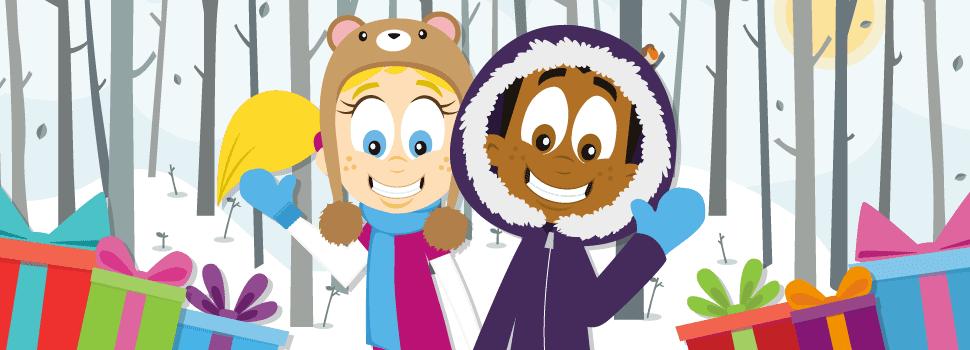 Klara and Manu and Snow