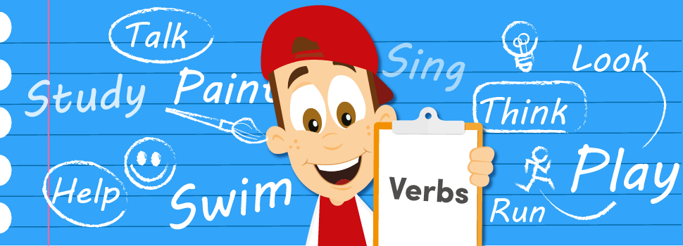 Stig surrounded by verbs