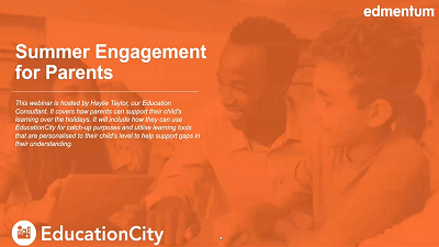 Summer Engagement with EducationCity for Parents Webinar